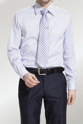 RH Shirt |  Business Otto Blue and  White