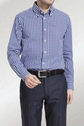 RH Shirt | Otto Blue and  White