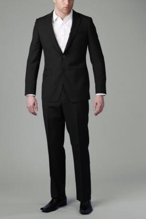 RH8012 | Black Multi Stripe Suit