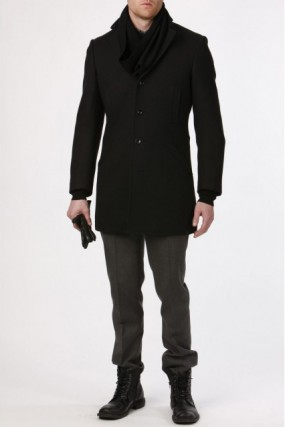 RH | Black Twill 3/4 Car Coat Length