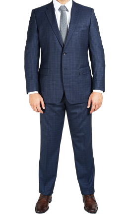 EB16M-91  Blue Black Windowpane